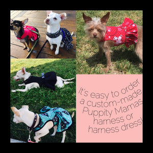Custom dog or puppy reversible safety harness