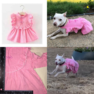 Alteration service retailoring baby and toddler wedding bridesmaid flower girl fancy party dresses to correctly fit your dog