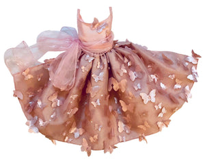 Dog bridesmaid wedding formal butterfly dress pink or black taffeta tulle & french lace custom for all sizes xxs-5xl