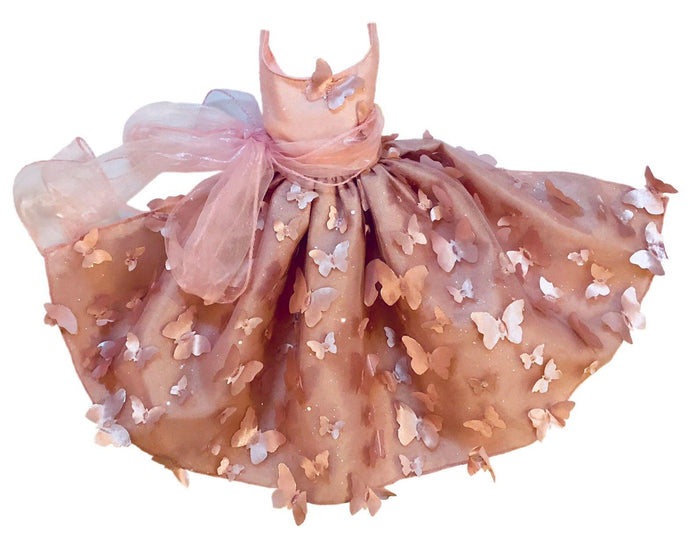 Dog bridesmaid wedding formal butterfly dress pink taffeta and tulle custom for all sizes xxs-5xl