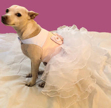 Load image into Gallery viewer, LouLou Custom Bridesmaid, Flower Girl, Wedding, party, or Ball Gown for Dogs: Formal Party Dog Dress w Ruffles + pearls/rhinestones/lace