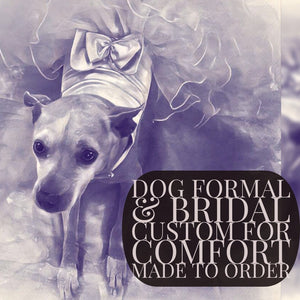 Custom dog formal, bridal & quinceañera clothes