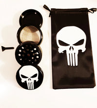 Load image into Gallery viewer, $19.99 Punisher Smoking Grinder  Black White Glass  Smoking Tool  2.1 inch