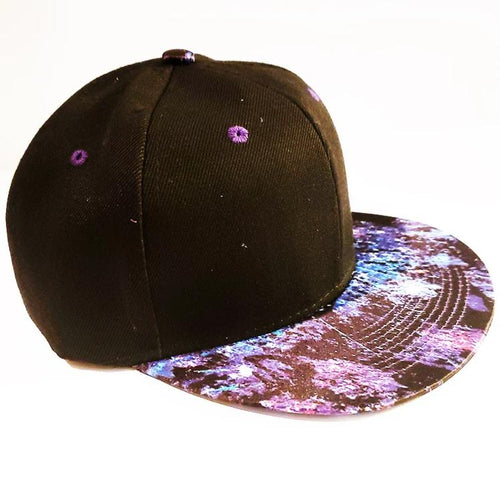 $14.99  Space Hat Blue Black Purple Space Adjustable Back Black Hat Custom Design