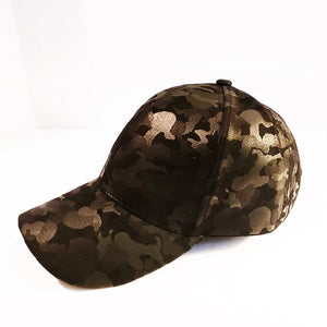 $14.99 Camo Hat Adjustable Black Green Hat Custom Design On Black