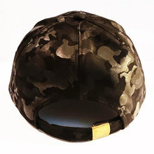 Load image into Gallery viewer, $14.99 Camo Hat Adjustable Black Green Hat Custom Design On Black