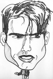 Tom Cruise caricature; caricature service; special order caricature