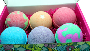 Bath Bombs Gift Set Series 2 with a Blend of Coconut Milk