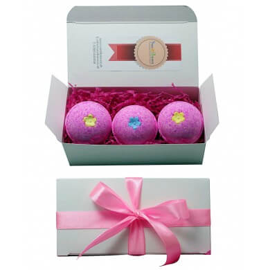 Bath Bombs Set Suezbana Ifeme Little Pink Gift  Set