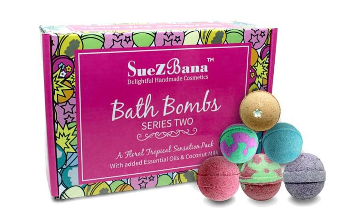 Bath Bomb Gift Sets with a Blend of Coconut Milk | SuezBana
