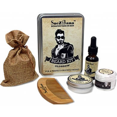 Beard Grooming Kit Gift Sets Organic Oldbrew