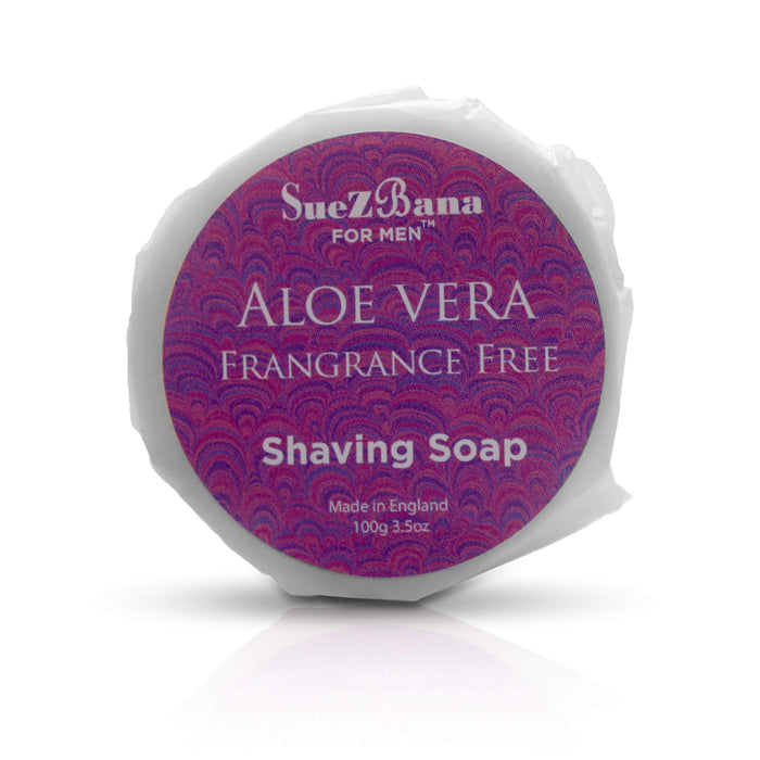 Shaving Soap  UK Fragrance Free  With Aloe Vera