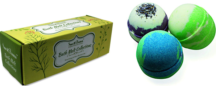 Bath Melts Collection Set of 3 With Organic Butters