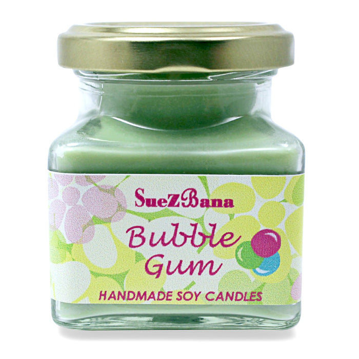 Suezbana Handmade Soy Fragrance Candles 100g/3.5oz Bubble Gum