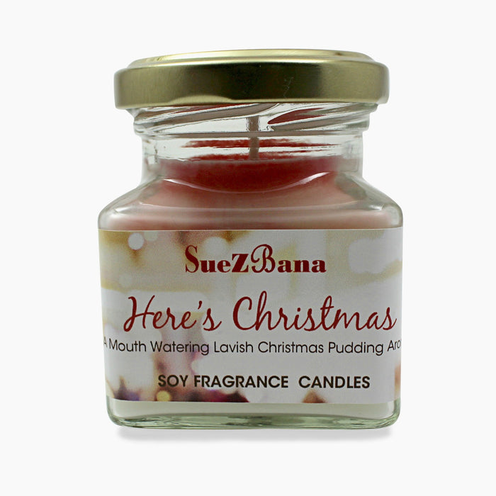 SUEZBANA HANDMADE SOY FRAGRANCE CANDLES 100G/3.5OZ Here's Christmas