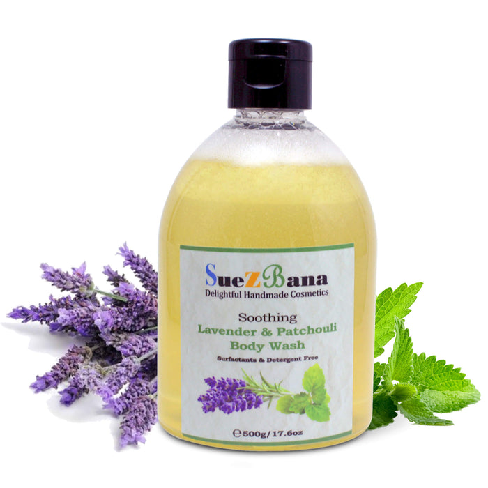 Body Wash With Lavender & Patchouli Surfactant Free 500g