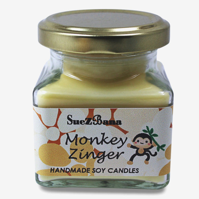 SUEZBANA HANDMADE SOY FRAGRANCE CANDLES 100G/3.5OZ MONKEY ZINGER