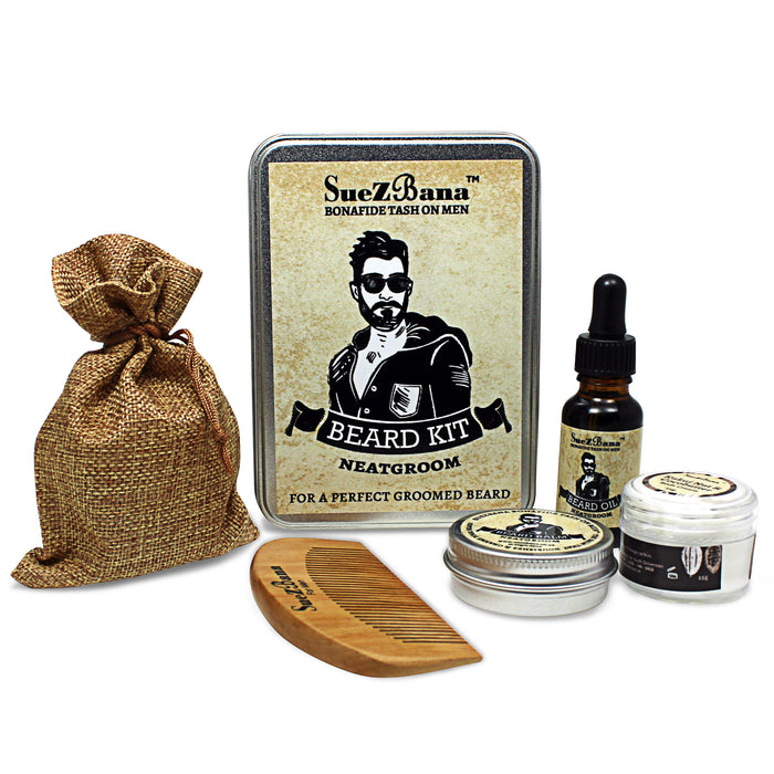 SueZbana For Men Organic Grooming Beard Kits Gift Sets Neatgroom