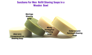 Suezbana for Men Shaving Soap in a Wooden Bowl (100g) Refills