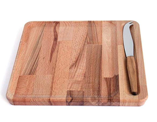 Roger Orfèvre - Cheese Board & Knife Set