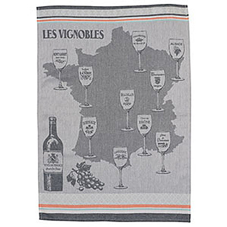 Le Panier - Jacquard Tea Towel - Les Vignobles Orange