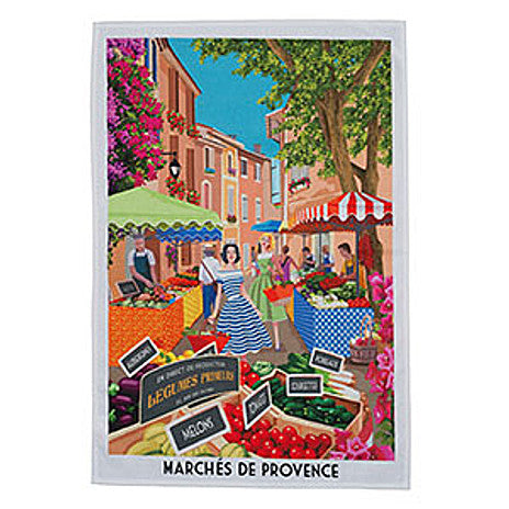 Le Panier - Printed Tea Towel - Marches De Provence