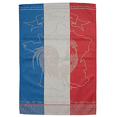 Le Panier - Jacquard Tea Towel - France Flag