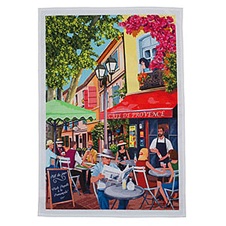 Le Panier - Printed Tea Towel - Cafe De Provence
