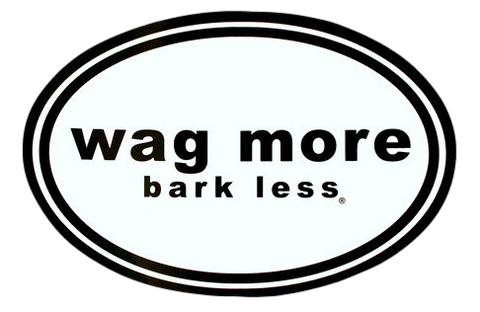 Wag More Bark Less Sticker/Maget