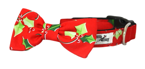 Deck the Halls Bow Tie Collar