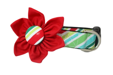 Peppermint Stick Flower Collar