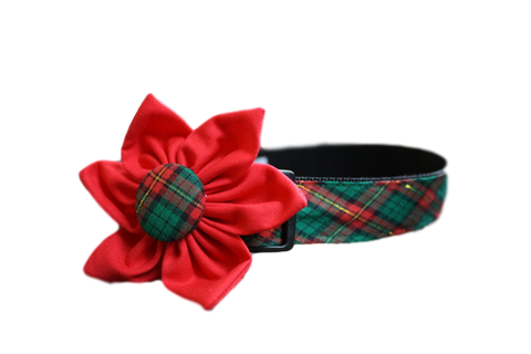Christmas Plaid Flower