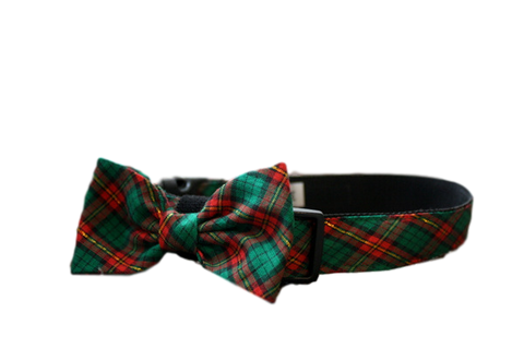 Christmas Plaid Bow Tie