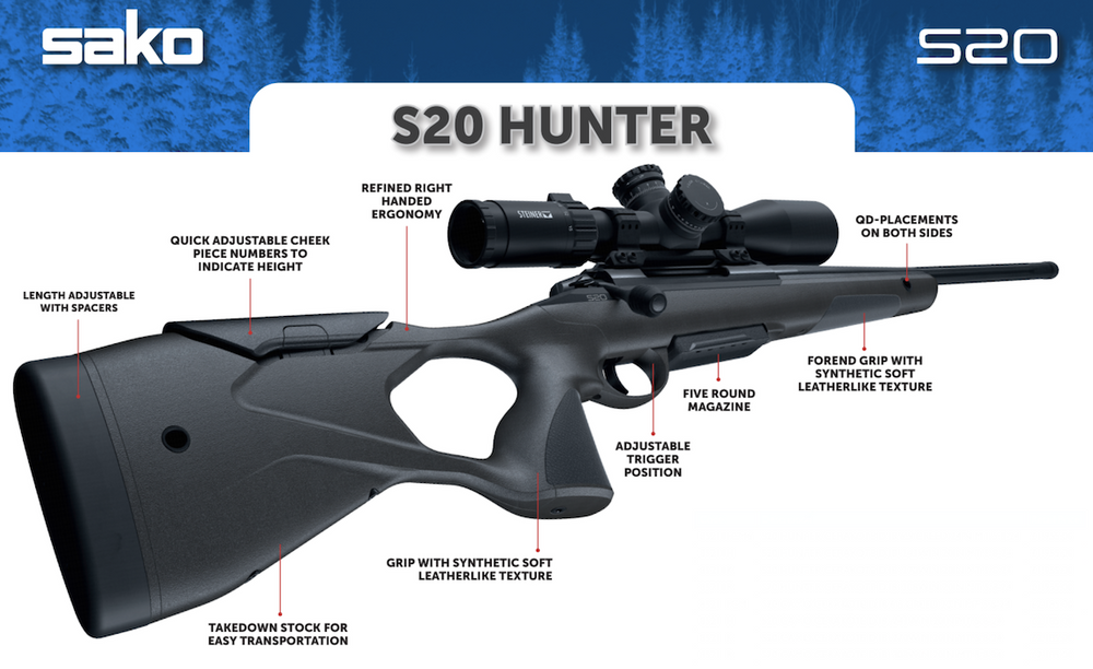 Sako S20 Hunter Rifle - Cluny Country Guns