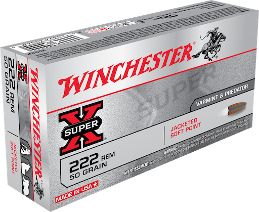 Winchester .222 50gr Bullets