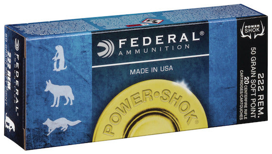 Federal .222 50gr Bullets - Cluny Country Guns