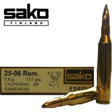 Sako .25-06 117gr SP Bullets