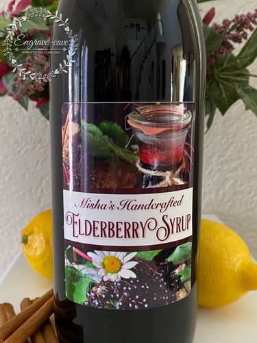 Elderberry Syrup Labels