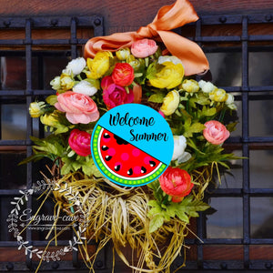 Wreath Sign Welcome Summer