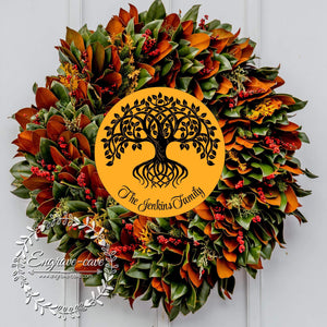 Wreath Sign Tree of Life