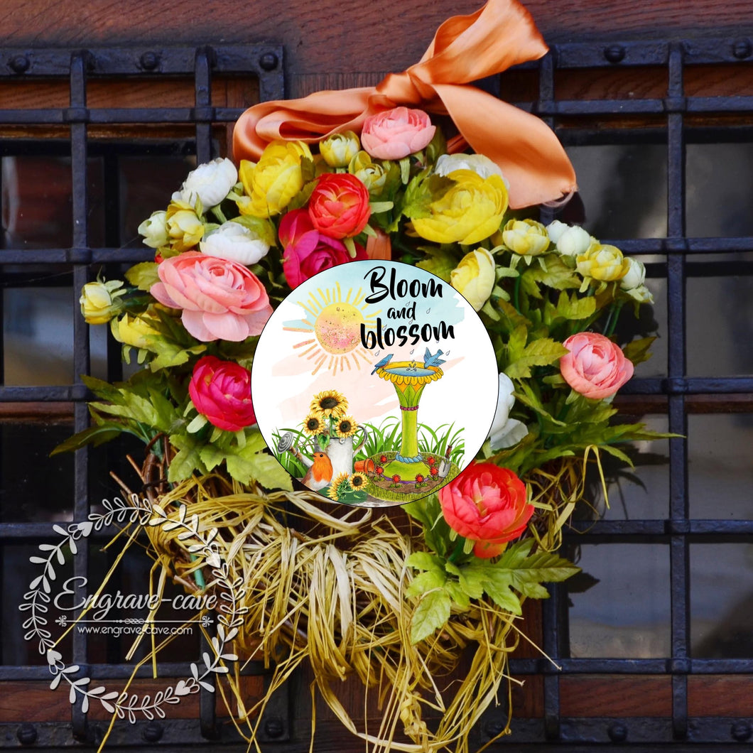 Wreath Sign Bloom and Blossom