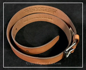 100% Leather Men's Belt with Custom Engraving