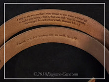 Load image into Gallery viewer, 100% Leather Men's Belt with Custom Engraving