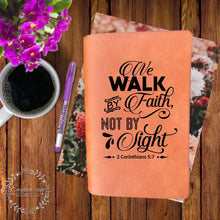Load image into Gallery viewer, Walk by Faith Engraved Bible