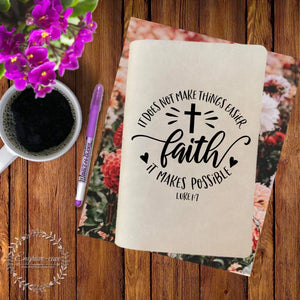 Faith Makes It Possible Engraved Bible