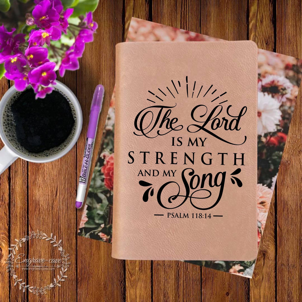 Strength and Song Engraved Bible