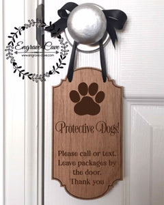 Door Hanger- Protective Dogs