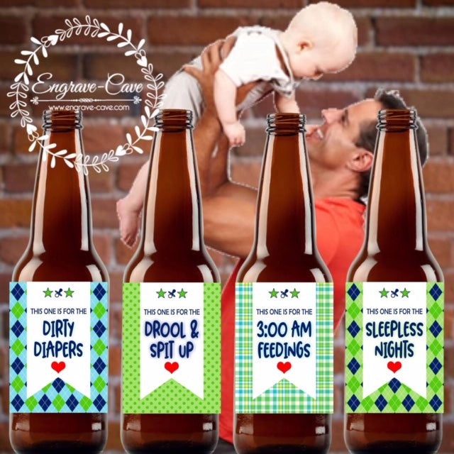 New Daddy Beer Labels- Baby Boy