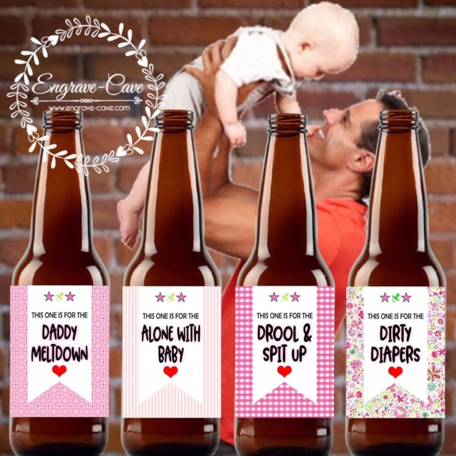 New Daddy Beer Labels- Baby Girl