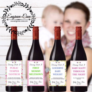 Mommy Made It Wine Labels- Baby Girl